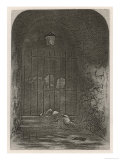 The Morning Lady Dedlock is Found Dead by the Gates of the Cemetery Giclee Print by  Phiz