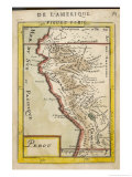 Peru, a Map Showing a Coastal Part of South America on the South Pacific Giclee Print by Alain Manesson Maller