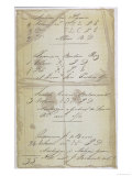 Part of a Bill of Lading for Slaves Exported from Luanda, Angola, Giclee Print
