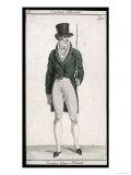 Green Coat and Cane 1807 Giclee Print