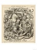 Charles Darwin Satire: Man is But a Worm Giclee Print