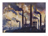 Industrial Smoke from the Factories of Sheffield Yorkshire Giclee Print