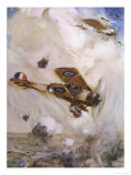 An Aerial Combat Over the Trenches Giclee Print