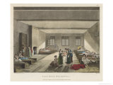 Women Prisoners Many with Children Doss Down in the Pass-Room Giclee Print by Rowlandson & Pugin