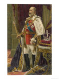 Edward VII British Royalty in His Coronation Robes Premium Giclee Print