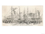 """Leaving Cork Ireland for America Via Liverpool on the """"Nimrod"""" and """"Athlone"""" Steamers Giclee Print"""