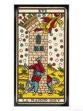 Tarot: 16 La Maison Dieu, The Tower Giclee Print