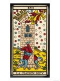 Tarot: 16 La Maison Dieu, The Tower Giclee Print