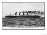 Passenger Liner of the Cunard Line the Largest in the World at the Time of Her Launch Giclee Print
