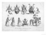 The Ten Avatars (Incarnations) of Vishnu Giclee Print