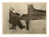 Johannes Brahms German Musician Reproduction procédé giclée
