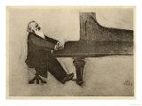 Johannes Brahms Alman Müzisyen - Giclee Baskı
