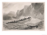 Smugglers in a Rough Sea off the French Coast Giclee Print by Rouargue