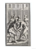 Wrestling in Ancient Rome Premium Giclee Print