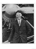 Charles Augustus Lindbergh with the Spirit of St. Louis Giclee Print