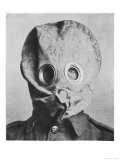 "British Soldier in ""Anti-Gas Helmet"", Gas Mask Giclee Print"