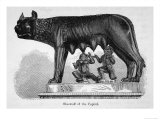 Romulus and Remus are Suckled by a Wolf Giclee Print