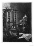 Christian Huygens Working on His Invention of the First Pendulum Clock Giclee Print
