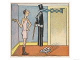 Gentleman Will Not Need to Dress Himself in the Automatic Home of the Future Giclee Print