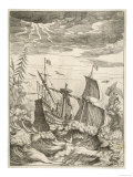 Galleon in Difficulties Perilously Close to a Rocky Shore Giclee Print