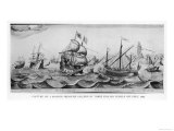 Capture of a Spanish Treasure Galleon by Three English Vessels off the Coast of Peru Giclee Print