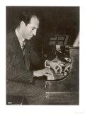 George Gershwin American Composer Reproduction procédé giclée Premium