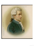 Wolfgang Amadeus Mozart Austrian Composer Premium Giclee Print