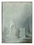 The Ghost of Louise Dunois Who Died Aged 18 Haunts the Cemetery Where She is Buried Giclee Print