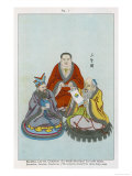 The Three Great Chinese Teachers of Spiritual Wisdom, Buddha Lao-Tzu and Confucius Giclee Print