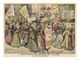 Suffragettes Celebrate the Release of Edith New and Mary Leigh from Holloway Giclee Print