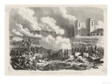 Paraguay-Uruguay War the Paraguayans Take the Uruguay Town of Paysandu, Giclee Print