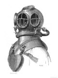 Diving Helmet with Weights Attached Giclee Print