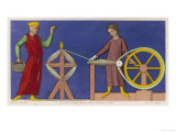 Spinning Wool at Amiens in the Middle Ages Giclee Print