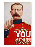 Kitchener Poster Recruitment Poster Featuring Kitchener: &quot;You are the Man I Want&quot; Reproduction proc&#233;d&#233; gicl&#233;e