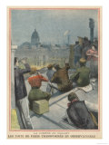 Parisians Gather on Their Rooftops to Observe Halley's Comet Giclee Print