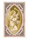 An Angel Plays a Harp Giclee Print