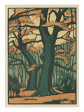 Trees in Autumn Giclee Print