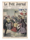French Suffragettes Disrupt Election by Attacking Ballot Box Giclee Print