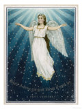 Flying Angel Among the Stars Giclee Print