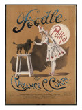 Circus Poodle Obeying Its Mistress Giclee Print