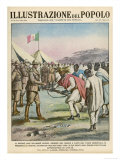 After the Defeat at Adwa an Ethiopian General Surrenders to the Italians Giclee Print