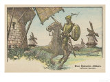 Don Quixote Attacks the Windmill Giclee Print