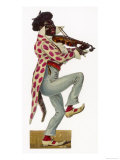 Minstrel Playing the Violin Giclee Print
