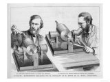 Professor Preece Tries Edison's Phonograph at the Royal Institution London Giclee Print