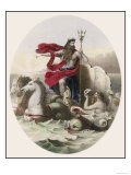 Hippocampi Beasts Who were Half Horse Half Fish Draw Neptune's Chariot Across the Sea Giclee Print