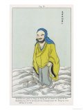 The Chinese Patriarch the Bodhidharma Po-Ti Ta-Mo Needing to Cross the Yangtse River Stands Giclee Print