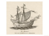 One of the Five Vessels of His Fleet the Caravel Victoria Giclee Print