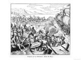 Amerigo Vespucci Encounters Hostile Natives Giclee Print