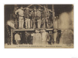 French Miners at Montceau-Les- Mines Central France Giclee Print