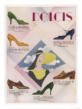 Advertisement for Dolcis Shoes Giclee Print